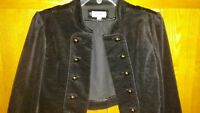 Limited Too Black Half Jacket Size 16 Velvet Look
