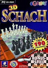 eGames 3D Schach von rondomedia GmbH | Game | Zustand sehr gut