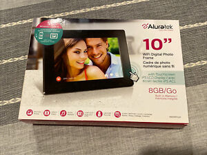 "Aluratek 10"" Wifi Digital Photo Frame with Touchscreen LCD Display 8GB NEW"