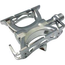 "MKS Supreme Keirin Track Pedal 9/16"" Toe Clip Compatible Chrome Plated Silver"