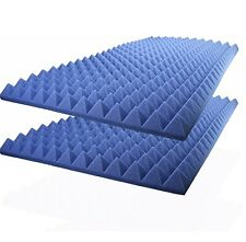 "2""X24""X48"" - Royal Blue Acoustic Foam Sound Absorption Studio Treatment (2 PACK)"