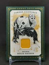 2008-09 UD Masterpieces Canvas Clippings Green #CCRV2 Rogie Vachon 51/85