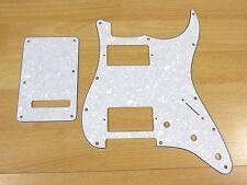 Stratocaster HH Pickguard & Tremolo Cover White Pearl For Fender Stratocaster!