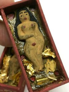 2 Girl Takrut Kruba Wang Love Charm Sex Luck Gamble Talisman Thai Amulet