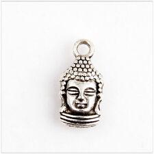 10 Buddha Tibetan Silver Charms Pendants Jewelry Making Findings HN357