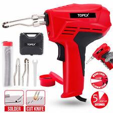 Topex Heavy Duty Soldering Gun Iron Kit Fast Heating Hot Knife Plastic Foam Cut