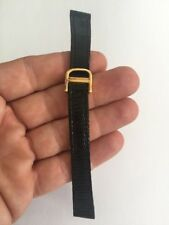Yellow Gold Buckle Genuine Lizard 9/16 Downing Watch Band Deployment Buckle