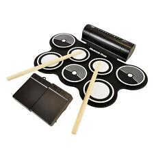 Electronic Drum Kit - Portable Drumming Machine, Compact Roll-Up With Speaker