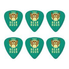 Free Bear Hugs Funny Humor Novelty Guitar Picks Medium Gauge - Set of 6