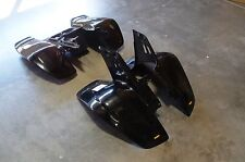 YAMAHA WARRIOR YFM 350 87 - 04 PLASTIC BLACK FRONT AND REAR FENDER SET