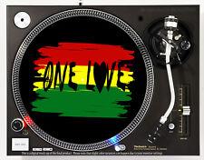 ONE LOVE RASTA - DJ SLIPMAT 1200's or any turntable, record player