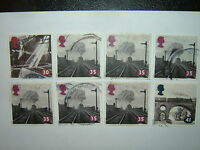1994 THE AGE OF STEAM STAMPS x 8 VFU (sg1797/9)