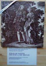 Catalogue TOILES DE NANTES des 18e et 19e siècles Expo 1978 indiennes étoffes