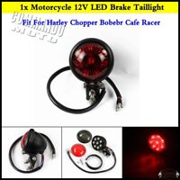 1x Motorcycle LED Red Rear Tail Light Brake Taillight Stop Light Lamp For Harley