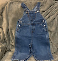 LEVI'S Denim Blue Jean Overalls Baby Toddler Size 18 Months Boy Girl