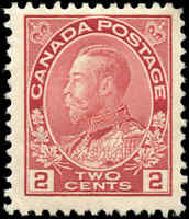 1917-22 Canada Mint H  2c F+ Scott #106 KGV Admiral Issue Stamp
