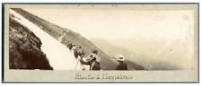 Suisse, Montée à l'Eggishorn Vintage print.  Tirage citrate  5X16  Ci