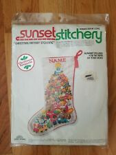 Vintage Sunset Stitchery Christmas Fantasy Socking Embroidery KIT SEALED New