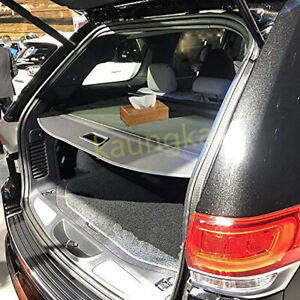Rear Trunk Security Cargo Cover Black Shade For 2011-2020 Jeep Grand Cherokee