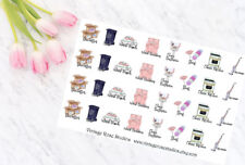 Cleaning Icons Functional Planner Stickers, All Types of Planners, Erin Condren
