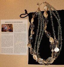 Murano Glass Necklace Multi Strand New