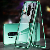 360° Magnetic Adsorption Double Sided Glass Cover Case For OnePlus Nord 8 7T Pro