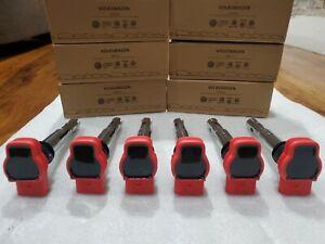 ✅ Audi A4 A6 Q7 Q5 S5 VW Touareg 06E905115G Red Ignition Coil Set 6✅