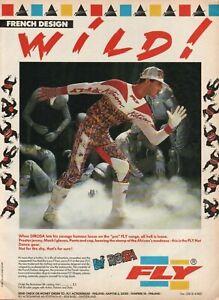 1988 DIROSA FLY Motocross Apparel, Gloves, Jersey, Pants - Vintage Motorcycle Ad