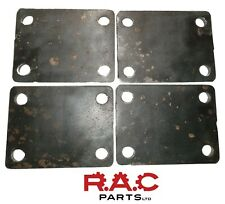 75 x 100 x 6mm Roll cage mounting, strengthening base plates - Mild steel QTY 4