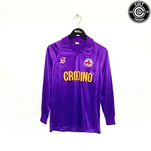 1988/89 FIORENTINA Vintage ABM LS Home Football Shirt Jersey (S/M) Baggio Era