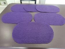 New listing Set of 6 Non-Slip Waffle Weave Placemats Vinyl Indoor/Outdoor Purple