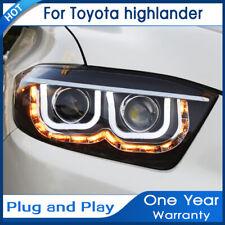 For Toyota Highlander headlight assembly Bi-Xenon Lens Double Beam HID 2008-2010