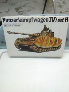 Vintage Bandai 1/48 PZKW IV Ausf.H Pin Point Series Model Kit!