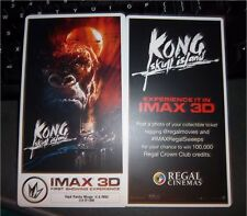 KONG: SKULL ISLAND Collectible Ticket/Movie Card IMAX First Showing Experience