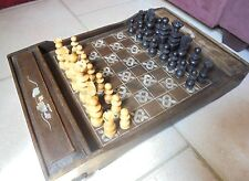 Jeu d'echecs 19eme NACRE et BOIS ,Chess games, mother of pearl inlay.asie? indo?