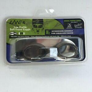 Lane 4 H2 Hydrogen Original Racing Goggles for Kids Small Faces Smoke Lenses NOS