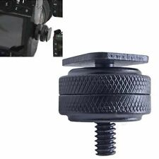 "1/4 ""Dual NUTS Treppiede Vite per Flash Fotocamera Digitale Hot Shoe Adattatore Strumento"