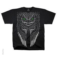Southwestern Design Black Owl T-Shirt