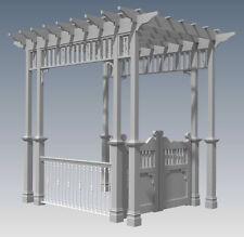 GRAPE VINE ENTRANCE ARBOR - WITH GATES & BALUSTRADE V3 - Full Building Plans