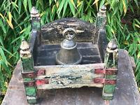 Antique Vintage Indian Sacred Hindu Homemade Wooden Shrine Altar Temple Salvage