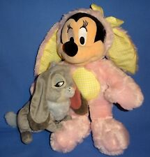 Disney Store Plush Minnie Mouse Easter Bunny costume lop ear;Clover Rabbit-LOT