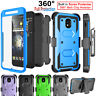 Samsung Galaxy J3 Star/Orbit 2018 Case Cover with Screen Protector Clip Holster