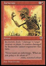 MRM FRENCH 4x incineration - incinerate MTG magic MIR