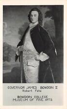"(570)  Rare Vintage Postcard Portrait of ""Gov. James Bowdoin II"" by Robert Feke"
