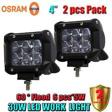 2 x 4 Inch OSRAM 30W 2550LM Car LED Work 4WD ATV Off-road SUV Driving Spotlight