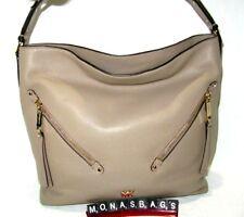 Michael Kors Evie Large Truffle Pebbled Leather Shoulder Hobo Handbag NWT $328