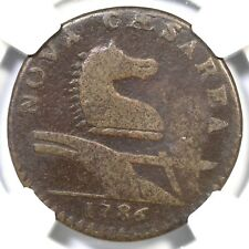1786 15-T R-5 NGC VG Details New Jersey Colonial Copper Coin