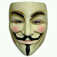 V for Vendetta Mask Adult Mens Guy Fawkes Anonymous USA Occupy Halloween Costume