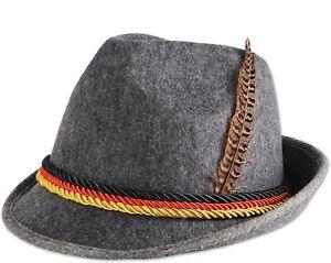German Bavarian Alpine Fedora Hat Oktoberfest,Feather