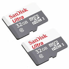 2 Pack - SanDisk 32GB Ultra microSD SDHC Class 10 48MBs Flash Memory SD Card Lot